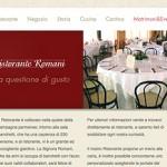 Ristorante Romani sito web