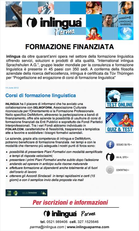 Inlingua Parma newsletter