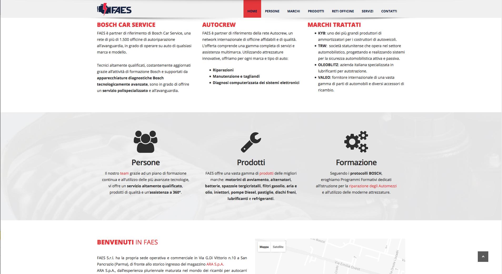 www.faespr.it - sito web FAES