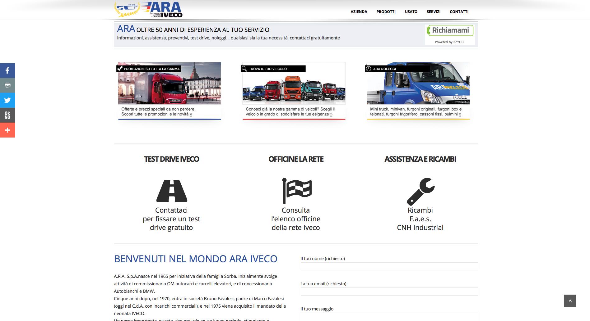 ARA S.p.A. - sito web