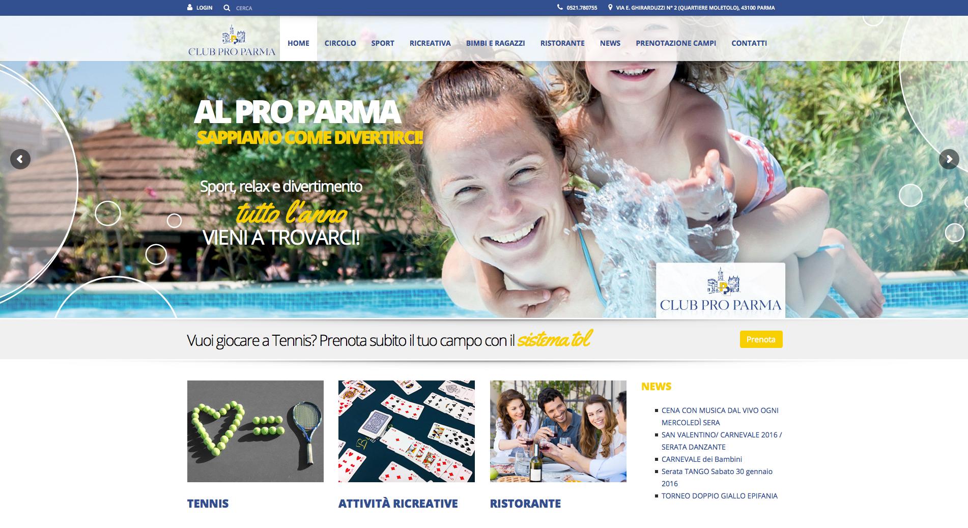 Circolo Pro Parma - sito web
