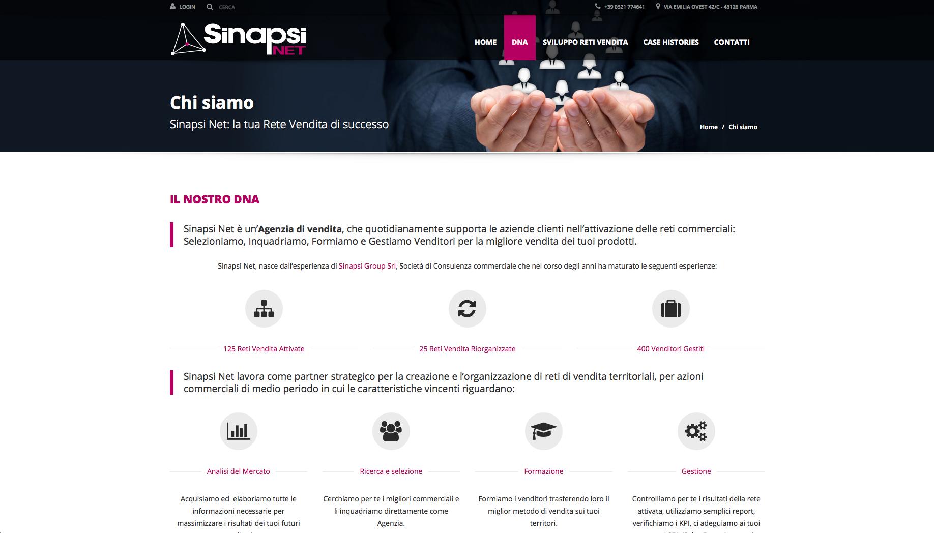 Sinapsi Net - sito web