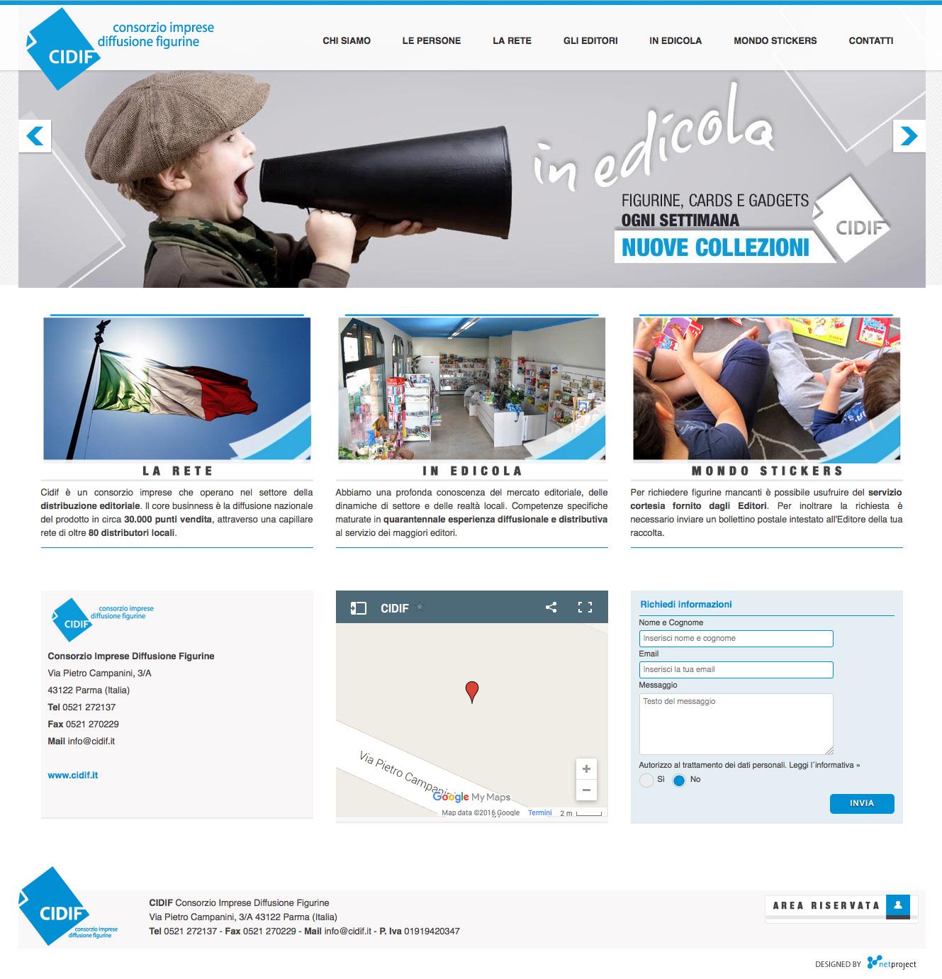 www.cidif.it - restyling sito web