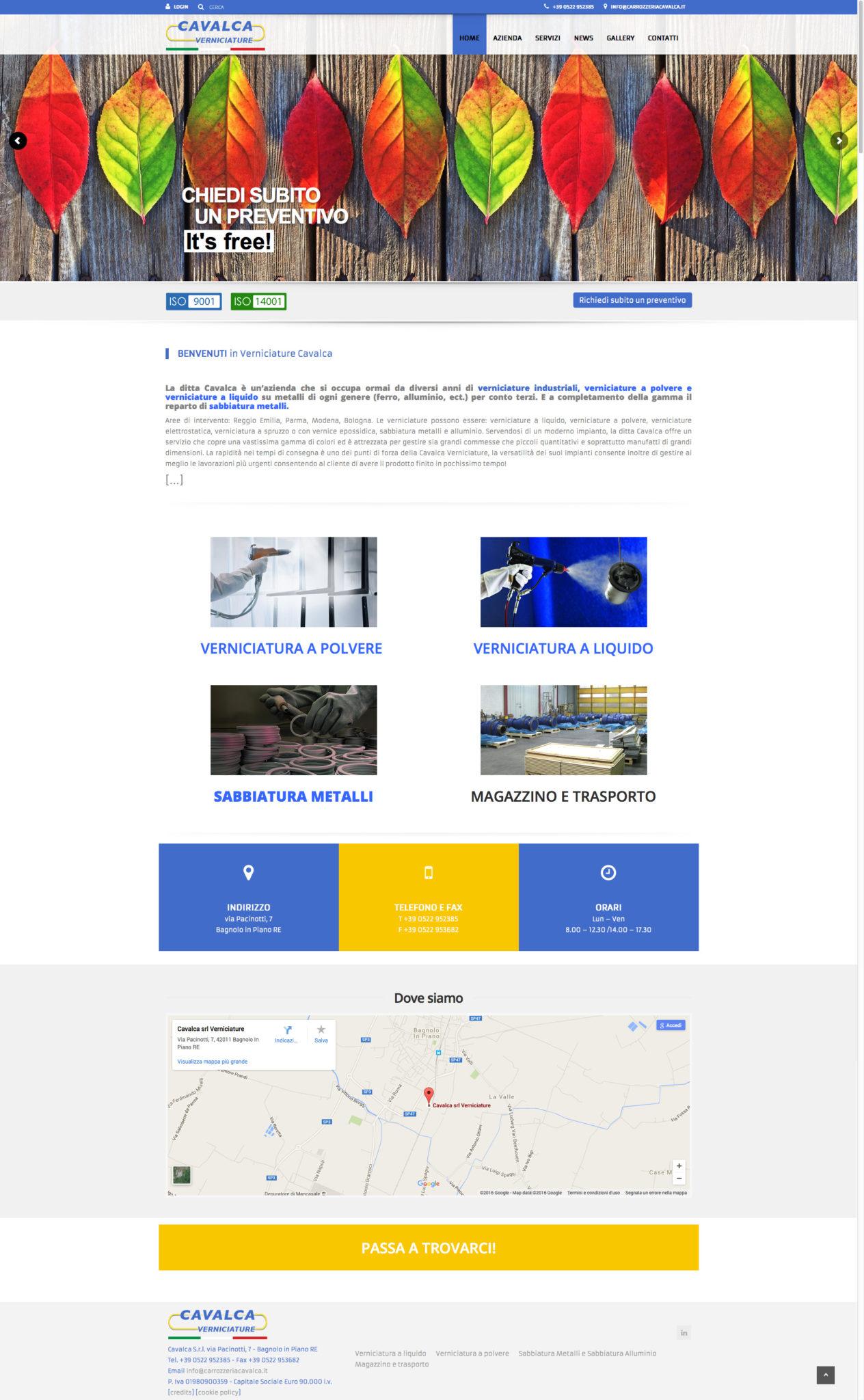 www.verniciaturecavalca.it - restyling sito web