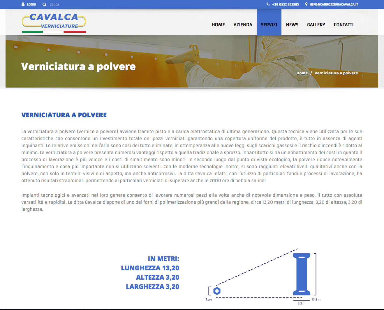 www.verniciaturecavalca.it - restyling sito web