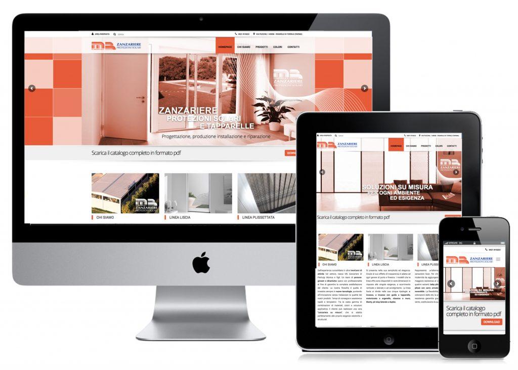MB zanzariere - restyling sito web